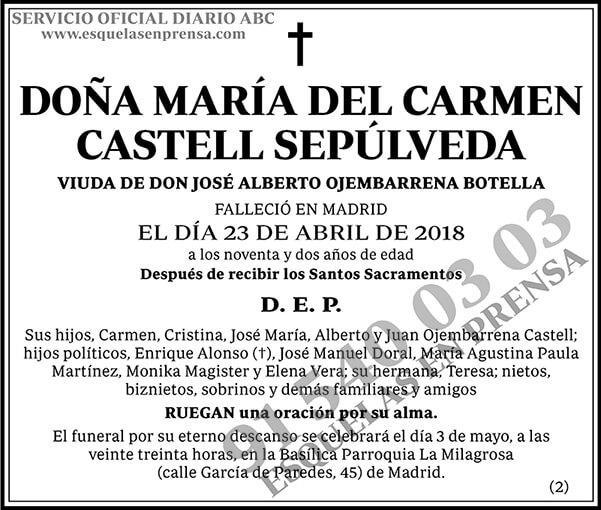 María del Carmen Castell Sepúlveda